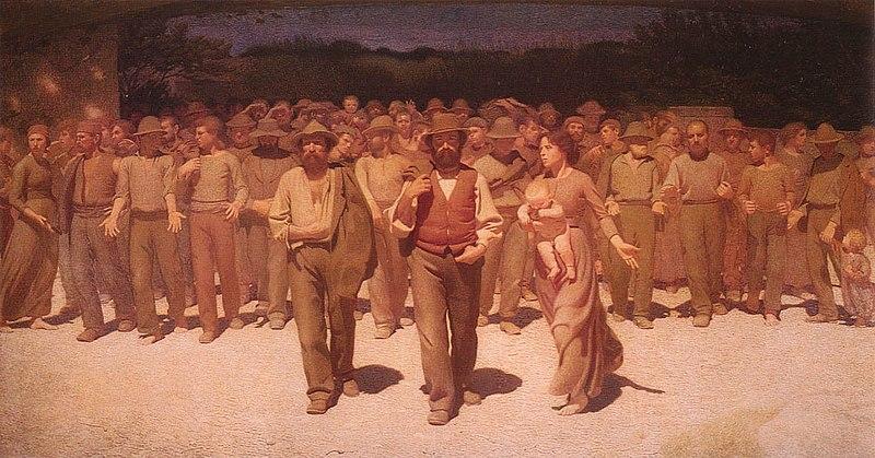 Il Quarto Stato - Giuseppe Pellizza, 1901